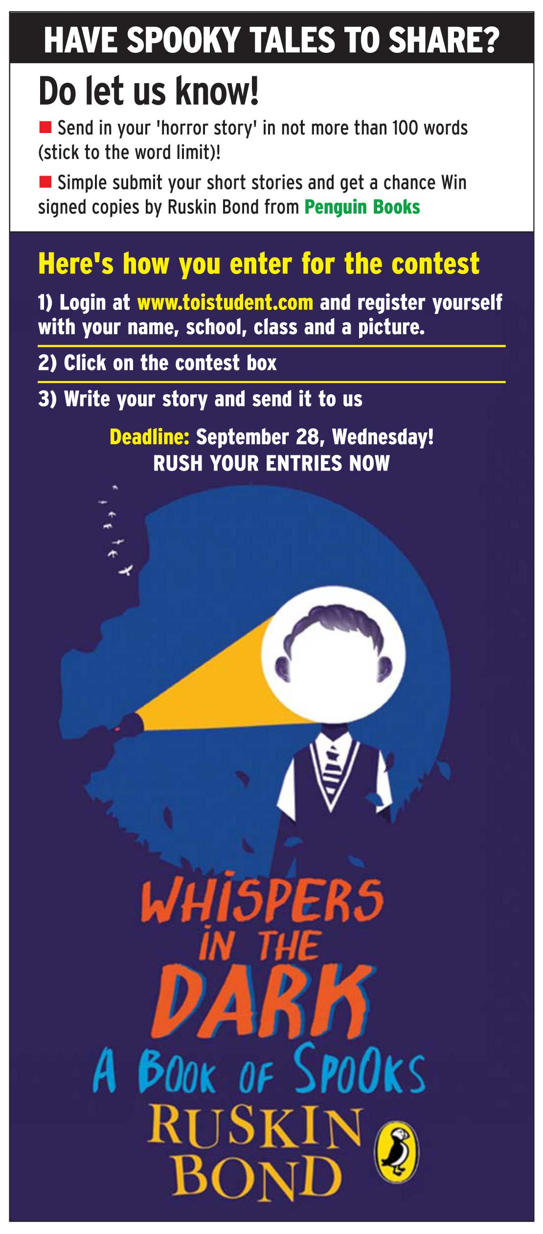Send Your Spooky Tales To Win Prizes